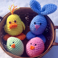 Easter Bunny, Easter Eggs, Easter chicks for Easter Basket decor or toys,