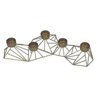 Nate Berkus Gold Geometric Votive Holder Centerpiece