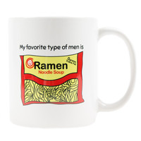 MY FAV TYPE OF MEN COFFEE MUG