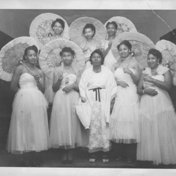 Vintage Photo African American Bridal Party