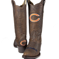 Old Pro Leather Women's Chicago Bears NFL Boot