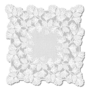 Woodland 36X36 Table Topper, White