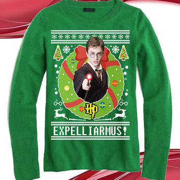 "Harry Potter ""Expelliarmus"" Ugly Sweater"
