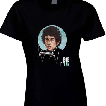 Bob Dylan Smokers Fan Art Cover  Womens T Shirt