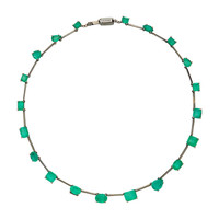 M'O Exclusive One-Of-A-Kind Emerald Mixshape Necklace | Moda Operandi