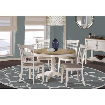 5791 Bayberry/Embassy Round Dining Set - White - Free Shipping!