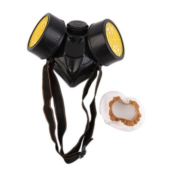 Emergency Survival Safety Respiratory Gas Mask With 2 Dual Protection Filter Drop Shipping