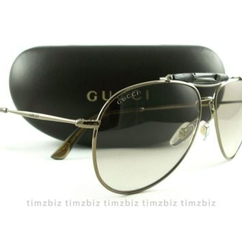 New Gucci Sunglasses GG 2235/s 1JFLP Brown Bamboo Authentic