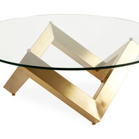 Como Coffee Table, Gold, Cocktail Table, Coffee Table Base