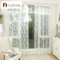 White curtain tulle panel sheer yarn curtain window blinds window treatments kitchen tulle sheer organza jacquard fabrics white