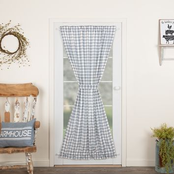 Sawyer Mill Blue Plaid Door Panel Curtain