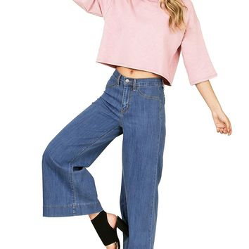 Stride Flare Denim Culottes