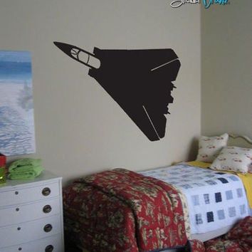Vinyl Wall Decal Sticker Military Jet Fighter Plane #209