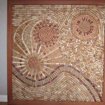 wine cork  board very inticate, one of a kind