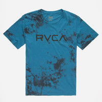 Rvca Wash Boys T-Shirt Blue  In Sizes