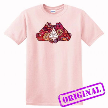 Mickey Mouse Diamond Illuminati for shirt light pink, tshirt light pink unisex adult