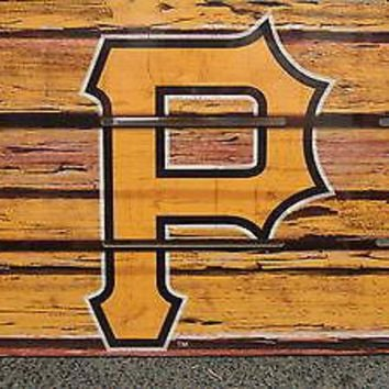 "PITTSBURGH PIRATES LOGO WOOD SIGN 14""X25'' BRAND NEW   WINCRAFT"