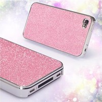 Rhinestone Hard Cover Protective Case For Iphone 4/4s/5