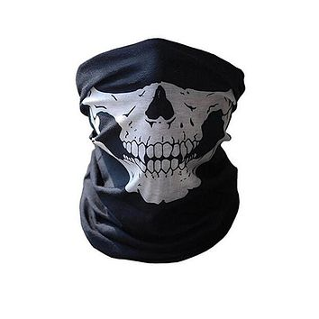 Skull Motorcycle/Skiing Half Face Mask