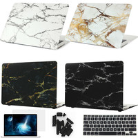 Marble Texture Cover Case For Apple Macbook Air Pro Retina 11 12 13 15 inch For Mac book 11.6 13.3 15.4 Hard Shell Laptop Bag - TMACHE