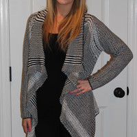 Draped Thick Knit Cardigan