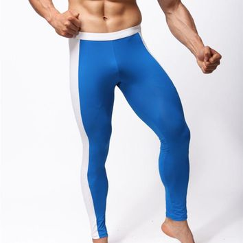 Sleep Bottoms pants men cool satin comfortable sweatpants fashion trousers skinny clothing gay sheer compression pouch tights