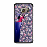 Mickey Mouse The Wizard Floral Vintage Samsung Galaxy S6 Edge Case