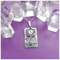 Tarot The Moon pendant Rider-Waite .925 sterling silver