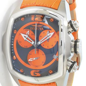 Invicta Men's Lupah Revolution Collection Chronograph Leather Strap Watch 6092