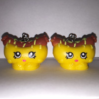 Shopkins Foodie Earrings - Frank Furter - repurposed toys