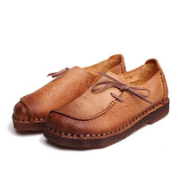 Handmade Vintage Genuine Leather Soft Cow Shoes