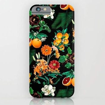 Fruits Basket Phone Case Fruit and Floral Pattern Mobile Cover Cell Phone Case For Galaxy S7 | Phone Cover Edge 7, iPhone 8 Samsung Galaxy Note 5 S6 Edge Plus S7 S7 Edge S8 S8 Plus iPhone X Models