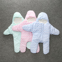 SR0770  New arrival Cute Star winter sleeping bags baby sleeping bag warm blanket to swaddle Sleepsacks