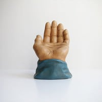 Large Vintage Ceramic Hand Sculpture / Figurine / Great Pop Art Statement Piece