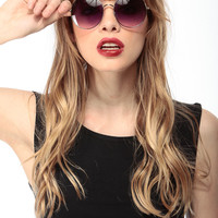 Purple Round Frame Sunglasses