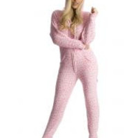 Cherry Cheetah Hooded Adult Pajamas