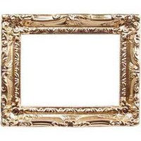 Large Ornate Gilded Picture Frame @ miniatures.com