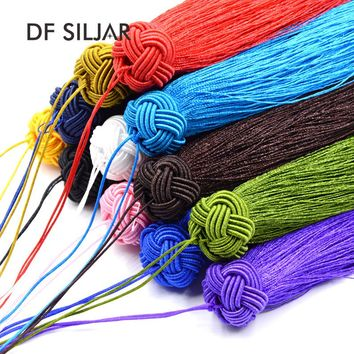 2pc/lot 18cm Chinese Knot Silk Tassels For Jewelry DIY Making Fit Boho Earrings Key Rings Garments Curtains Findings Y1671