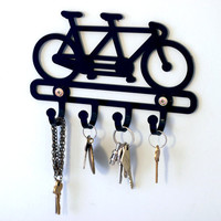 Bicycle gift, bicycle key rack, bike rack, wall hook, door hook, bicycle home decor, tandem bicycle, cycling, organization, Australia