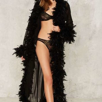 Von Teese Feather Robe