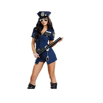 Fancy Police Cop Outfit Halloween Costume For Women
