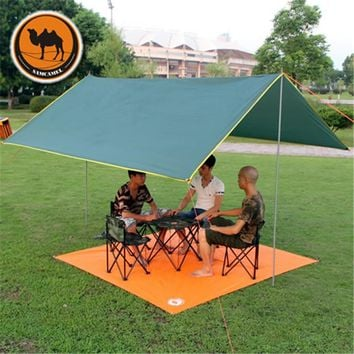 Outdoor Camping Tent Awning Camping Mat Waterproof Sun shelter Gazebo Canopy Picnic Sunshade Shelter For Party Beach Tent 3*3M