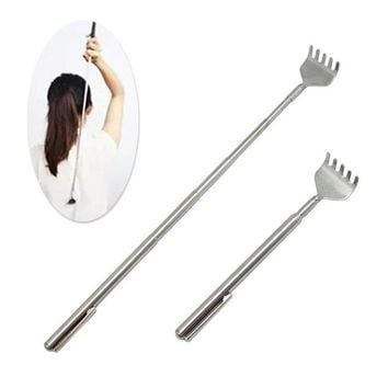 Adjustable stainless steel back scratcher