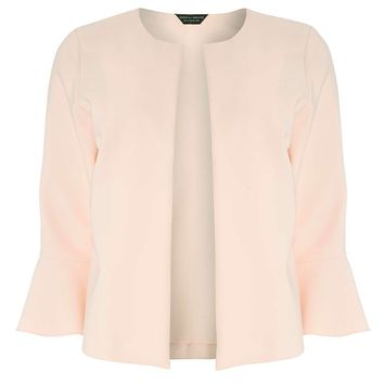 Blush Pink Flute Sleeve Jacket | Dorothyperkins