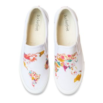 World Map White (Women's)