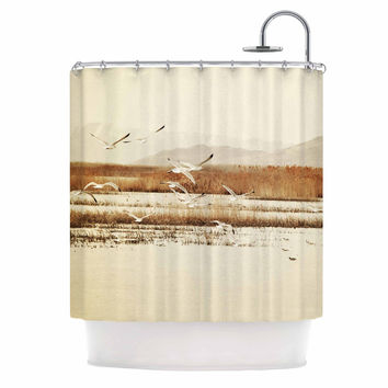 "Sylvia Coomes ""Nautical Flight"" Tan Brown Shower Curtain"