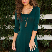 Natural Charm Dress - Green