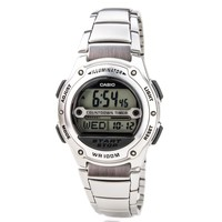 Casio W756D-7A Men's Sports World Time Alarm Steel Bracelet Digital Dial Watch