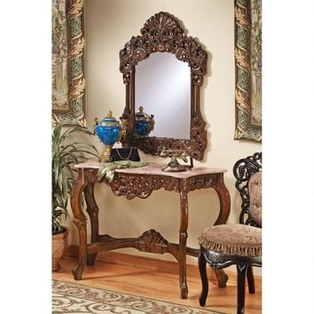 Dordogne Mirror And Console Set 18th Century France Entry Way 47W