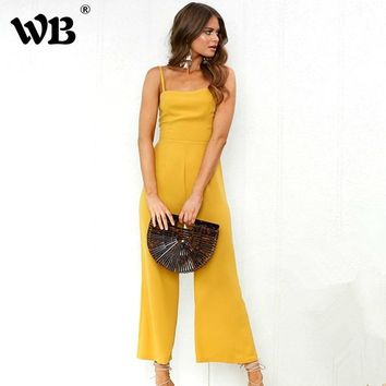 Sexy Strapless Jumpsuits Female Overalls 2018 Spring Summer Long Playsuits Casual Bodysuits Women Off Shoulder Jumpsuit Rompers